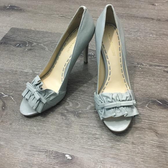 Enzo Angiolini Shoes - Enzo Angiolini gray peep-toe stilettos